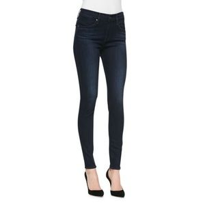 AG The Farrah high-rise skinny jeans dark blue 28